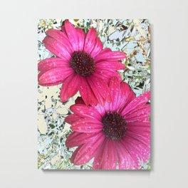 Garden Blooms - Pink  Metal Print