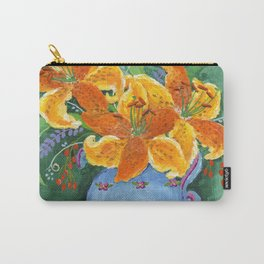 Acrylic Painting Tiger Lily Carry-All Pouch