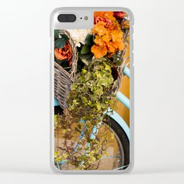 Basket Full of Flowers Clear iPhone Case