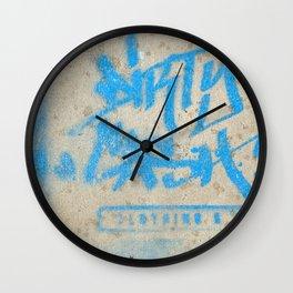 DIRTY CASH - TAGGING STREETART MIAMI by Jay Hops Wall Clock