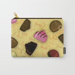 Sweet Valentine - Valentine's Day Candy Pattern Carry-All Pouch