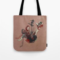 gym Tote Bags featuring Retro gym by TURQUOISE DAYS
