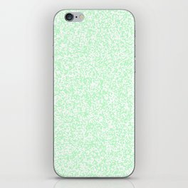 Tiny Spots - White and Light Green iPhone Skin