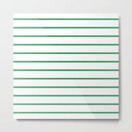 Kelly Green Breton Stripes Metal Print