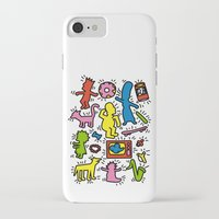 simpsons iPhone & iPod Cases featuring Haring - Simpsons by Krikoui