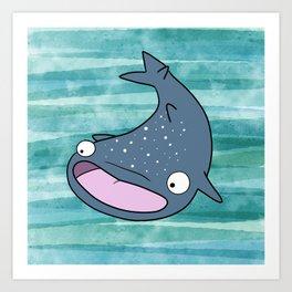 Janice the Whale Shark Art Print