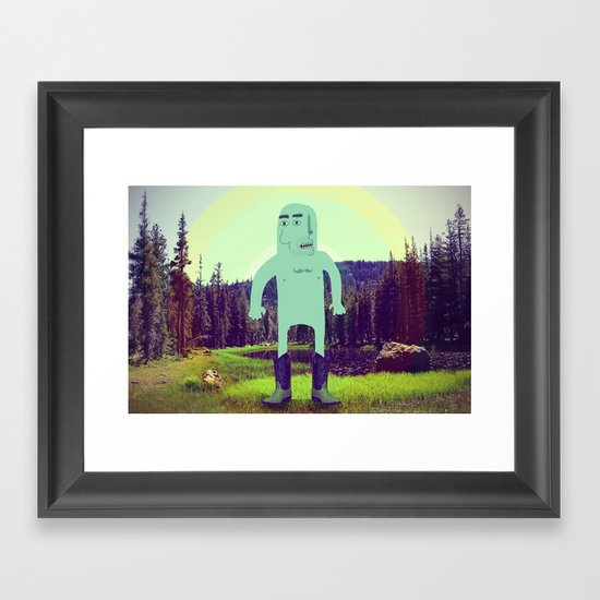 """""""Modeling His New Boots For Nature"""" Framed Art Print"""