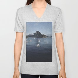 The Philippines Islands in El Nido Palawan Unisex V-Neck