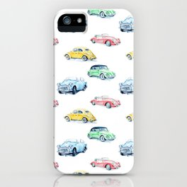 Retro cars pattern iPhone Case