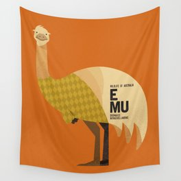 Hello Emu Wall Tapestry