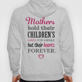 MOTHERS and CHILDREN Quote Artwork - Black and Pink Hoody