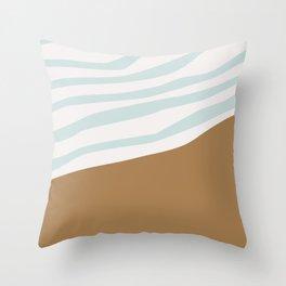 Abstract Beach Throw Pillow