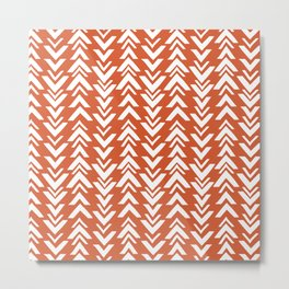Burnt Orange Tribal Arrow Print Metal Print