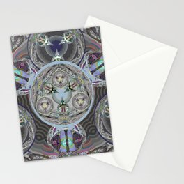 Indra's Web of Time and Soul Origin Visionary Mandala Stationery Cards