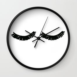 Sleeping girl Wall Clock