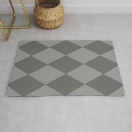 Grey Rhombus Rug