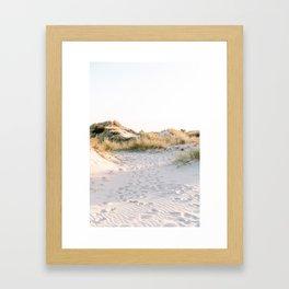 Golden Dunes   Calm Sand Dunes Netherlands Print Framed Art Print