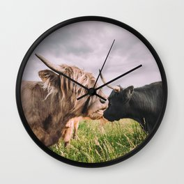Highland Cows Wall Clock