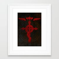 full metal alchemist Framed Art Prints featuring Full Celtic Alchemist by d3fstyle