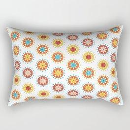 Casino Chip Pattern Rectangular Pillow