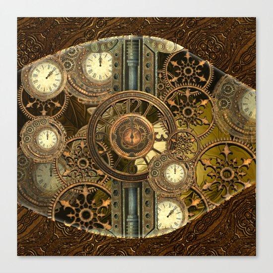 Steampunk, awesome clocks Canvas Print