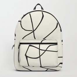 Abstract line art 36 Backpack
