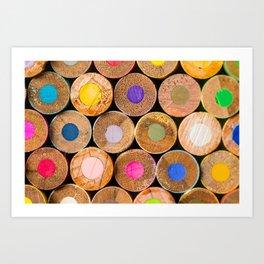 COLORED PENCILS 3 Art Print