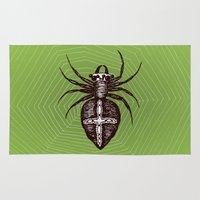 spider Area & Throw Rugs featuring Spider by Bwiselizzy