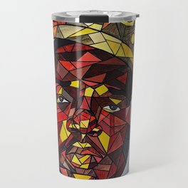 rapper,colourful,colorful,poster,wall art,fan art,music,hiphop,rap,rapper,legend,shirt,print Travel Mug