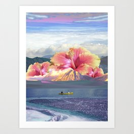 Lovely day in flowers island Art Print