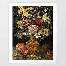 Centuries Paintings Georg Flegel STILL LIFE OF FLOWERS Art Print