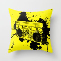 Vintage Boombox  Throw Pillow