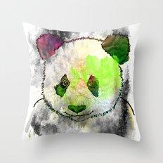 Marshmallow Panda Syndrome Throw Pillow