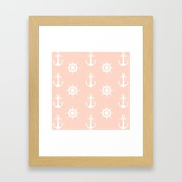 AFE Anchor and Helm Wheel Framed Art Print