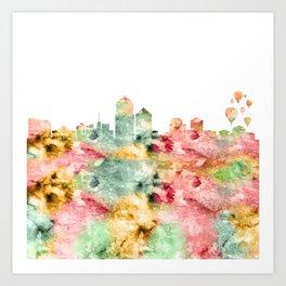 Albuquerque Skyline Art Print