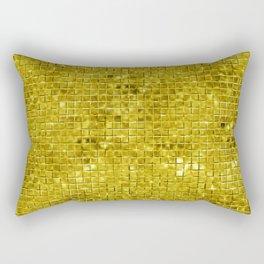 Faux gold geometric squares pattern Rectangular Pillow