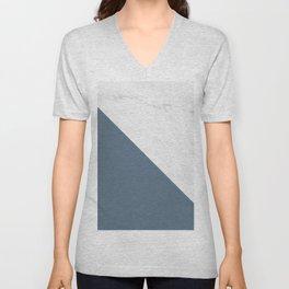 Marble Bluestone Diagonal Color block Unisex V-Neck