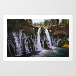 Burney Falls Panorama Art Print
