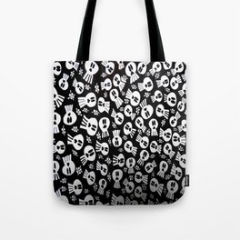 skulls and flowers 002 Tote Bag