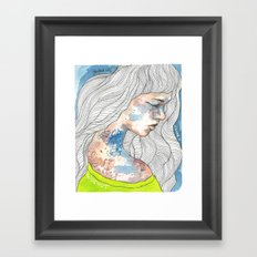 Hideout, watercolor illustration Framed Art Print