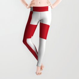St. George's Cross (Flag of England) - Authentic version to scale and color Leggings