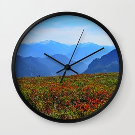 ONCE UPON AN ALPINE MEADOW Wall Clock