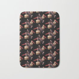Space Laser Cat On Flame Grilled Veggie Burger Bath Mat