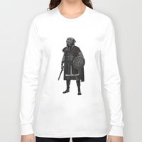 gladiator Long Sleeve T-shirts featuring Neapolitan Mastiff Gladiator  by Barruf