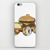 junk food iPhone & iPod Skins featuring junk food car by immiggyboi90