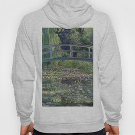 Water Lilies and the Japanese Bridge by Claude Monet Hoody