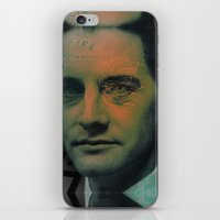 dale cooper iPhone & iPod Skins featuring Special Agent Dale Cooper by András Récze