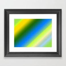 Lemon & Lime Stripes Framed Art Print