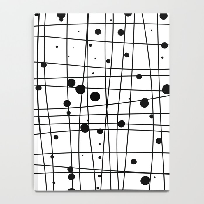 Woven Web black and white Notebook