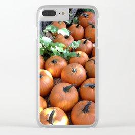 Fall Pumpkin Patch Clear iPhone Case